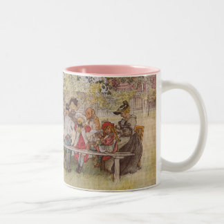 Breakfast Under the Big Birch Two-Tone Coffee Mug