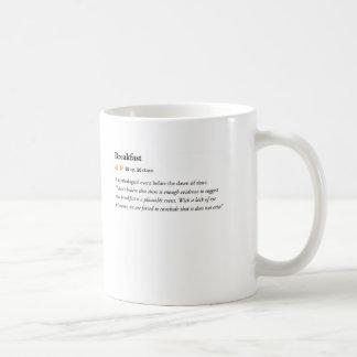 breakfast - Urban Dictionary mug