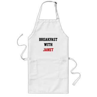 BREAKFAST WITH, JANET LONG APRON