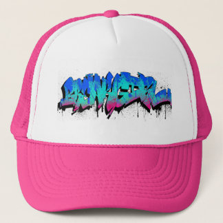 Breakgirl_TruckerCap_blueturq Trucker Hat