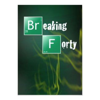 "Breaking 40 Birthday Party 5"" X 7"" Invitation Card"
