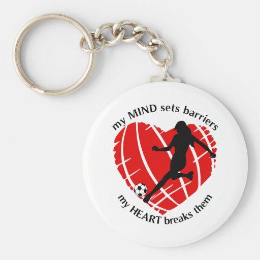 Breaking Barriers Lady Soccer Keychain