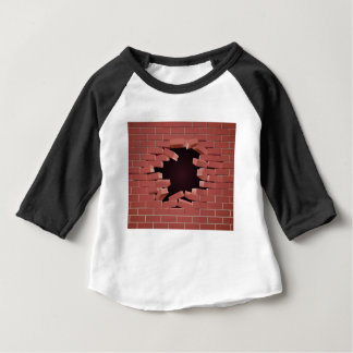 Breaking Brick Wall Hole Baby T-Shirt