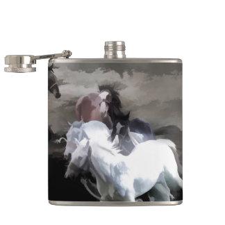 Breaking Free   -  Wild Horses Hip Flask