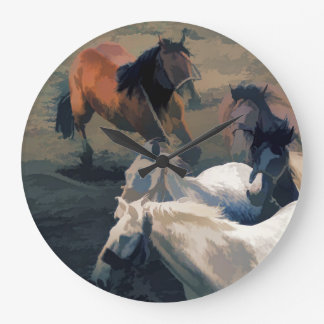 Breaking Free  -  Wild Horses Wall Clock
