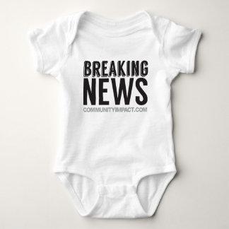 Breaking News - birth announcement / gift Baby Bodysuit