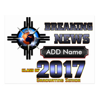 Breaking News Class Of 2017 Postcard