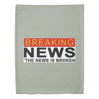 breaking news duvet cover