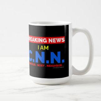 Breaking News: I am Curious Nosy Neighbor (C.N.N.) Coffee Mug