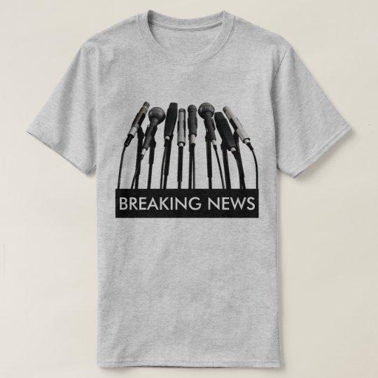 Breaking News Microphone Shirt
