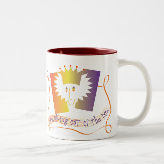 Breaking out of the Box Two-Tone Coffee Mug