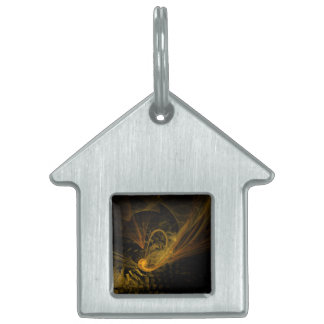 Breaking Point Abstract Art House Pet Name Tag