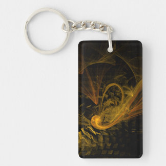 Breaking Point Abstract Art Keychain