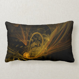 Breaking Point Abstract Art Lumbar Pillow