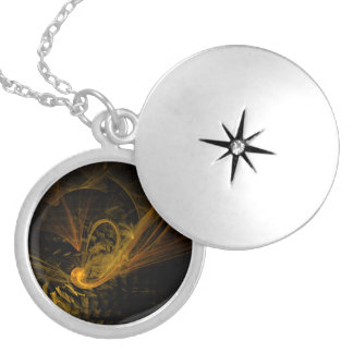 Breaking Point Abstract Silver Locket
