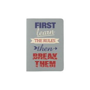 Breaking Rules custom passport cover