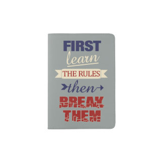 Breaking Rules custom passport cover