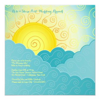 Breaking Sun Post Wedding Brunch Card