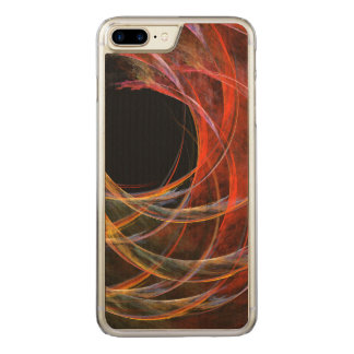 Breaking the Circle Abstract Art Carved iPhone 8 Plus/7 Plus Case