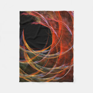 Breaking the Circle Abstract Art Fleece Blanket
