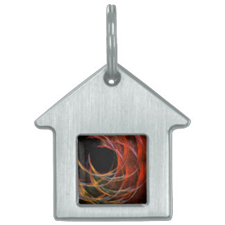 Breaking the Circle Abstract Art House Pet ID Tag