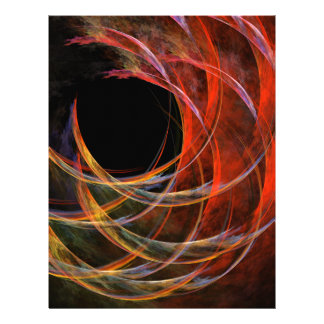Breaking the Circle Abstract Art Letterhead