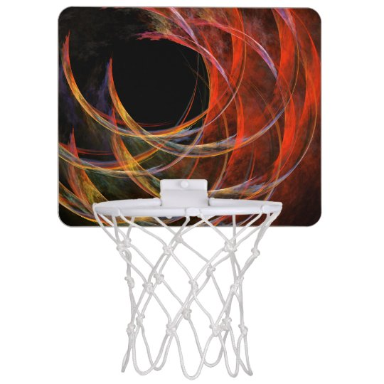 Breaking the Circle Abstract Art Mini Basketball Backboard