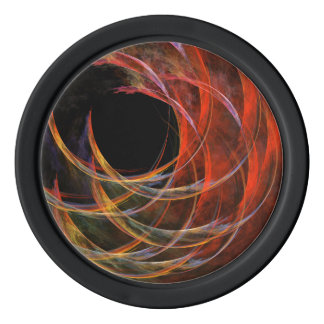 Breaking the Circle Abstract Art Set Of Poker Chips