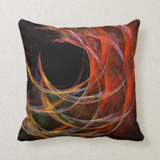 Breaking the Circle Abstract Art Throw Pillow