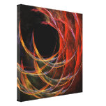 Breaking the Circle Abstract Wrapped Canvas Print