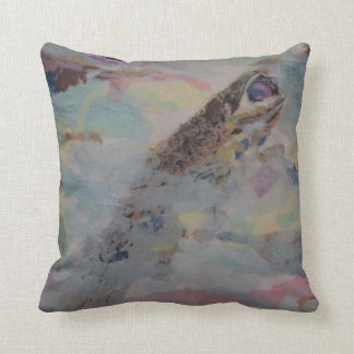 Breaking the Surface Throw Pillow
