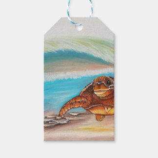 Breaking the Water's Crest Sea Turtle Gift Tags