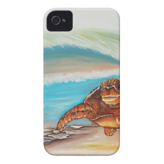 Breaking the Water's Crest Sea Turtle iPhone 4 Case-Mate Case