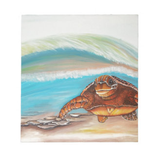 Breaking the Water's Crest Sea Turtle Notepad