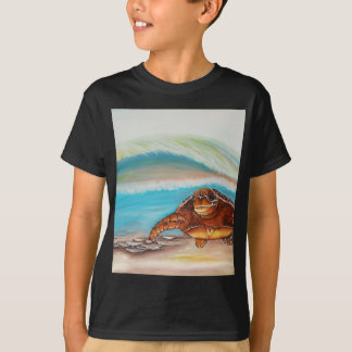Breaking the Water's Crest Sea Turtle T-Shirt