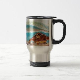 Breaking the Water's Crest Sea Turtle Travel Mug