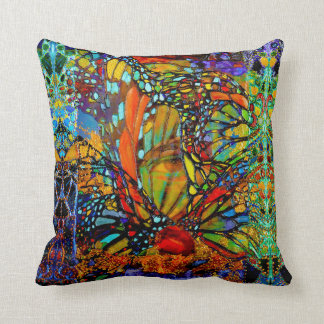 Breaking Thru Butterfly Throw Pillow