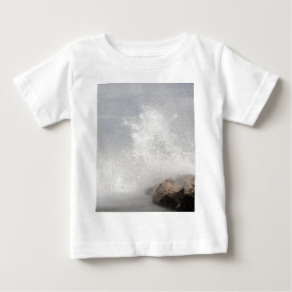 Breaking waves on rocks on the Adriatic Sea. Baby T-Shirt