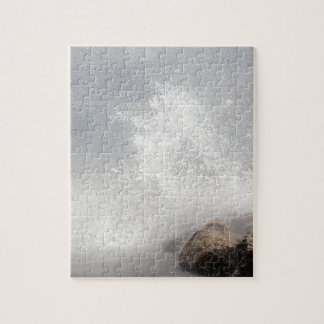 Breaking waves on rocks on the Adriatic Sea. Jigsaw Puzzle