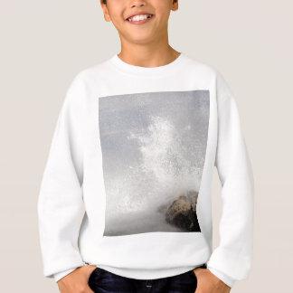 Breaking waves on rocks on the Adriatic Sea. Sweatshirt
