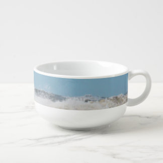 Breaking waves. soup mug