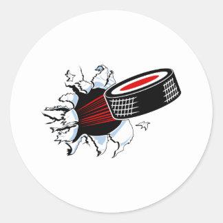 Breakthru Hockey Puck Classic Round Sticker