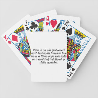 Breakup quote bicycle playing cards