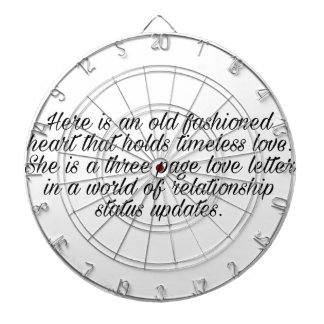 Breakup quote dartboard