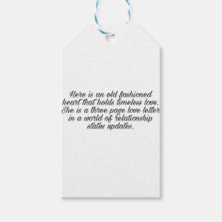 Breakup quote gift tags