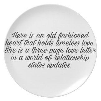 Breakup quote plate