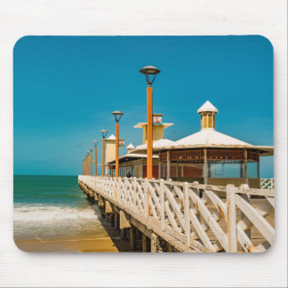 Breakwater Walkway at Fortaleza Beach Mouse Pad