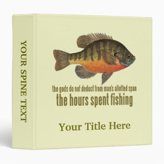 Bream Fishing 3 Ring Binders