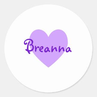 Breanna in Purple Classic Round Sticker