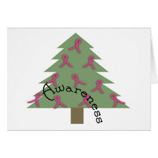BREAST CA AWARENESS Greeting Cards/Matching Stamps Card